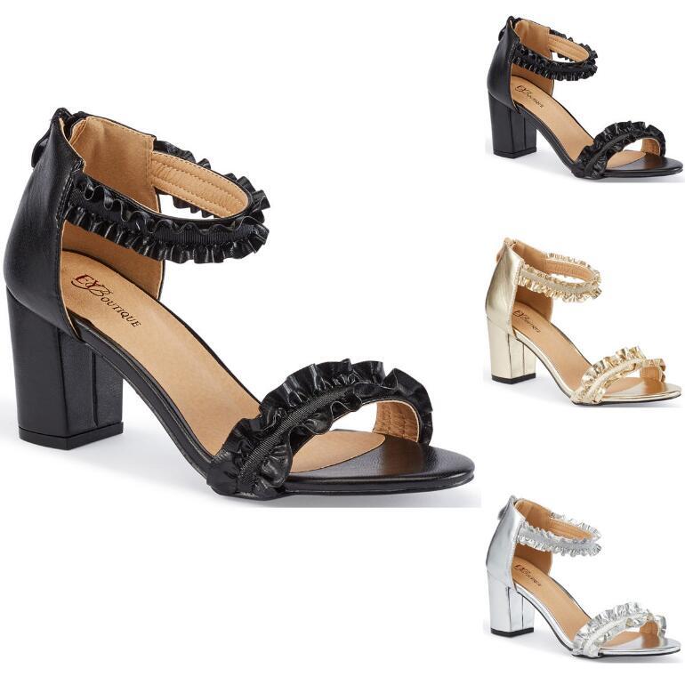 Never Enough Ruffles Sandal by EY Boutique