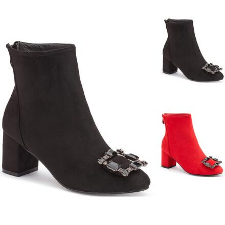 Glam-Buckle Ankle Bootie by EY Boutique