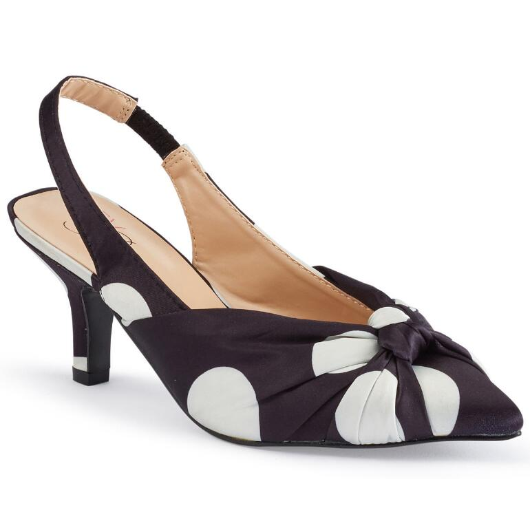 Knots 'n' Dots Slingback by EY Boutique