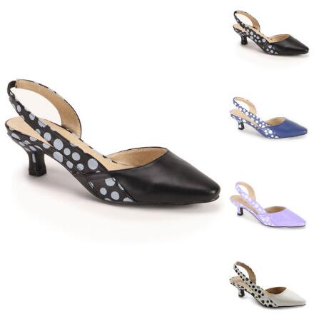 Hot Dot Slingbacks by EY Boutique