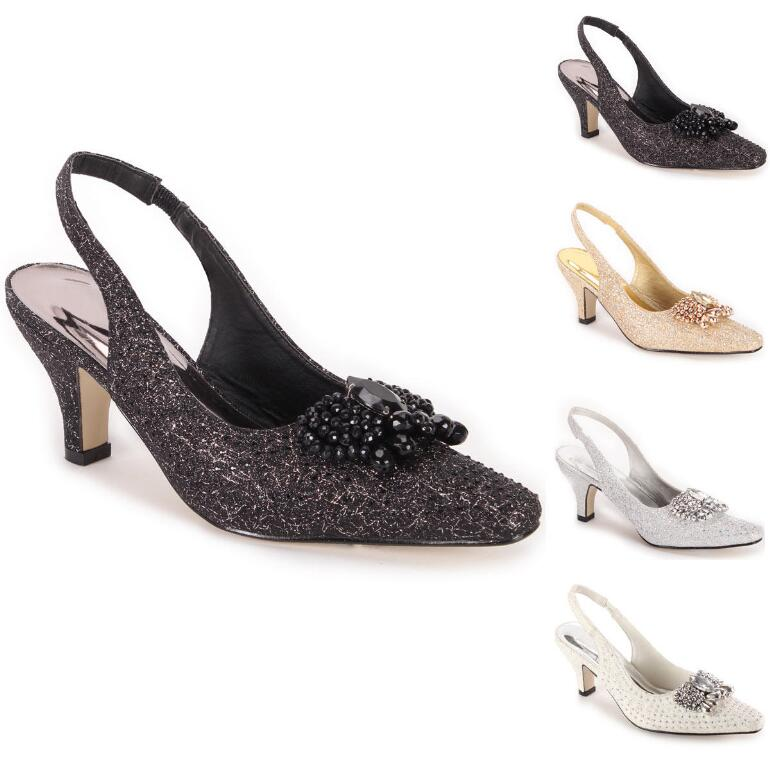 Opulent Shine Slingbacks by LUXE