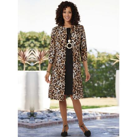 Layer on the Leopard Jacket Dress by EY Boutique