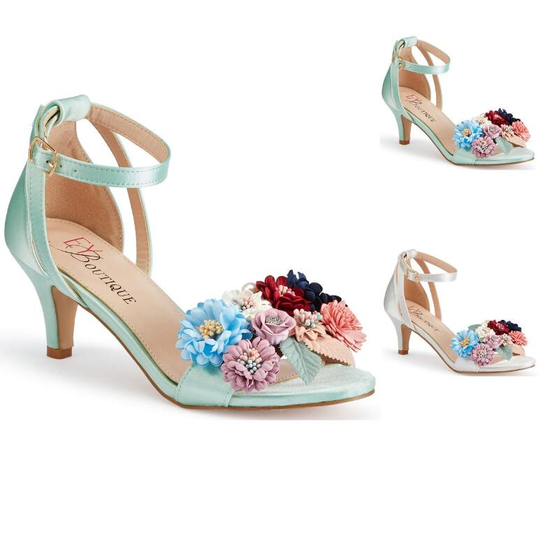 Satin Bouquet Ankle Strap by EY Boutique