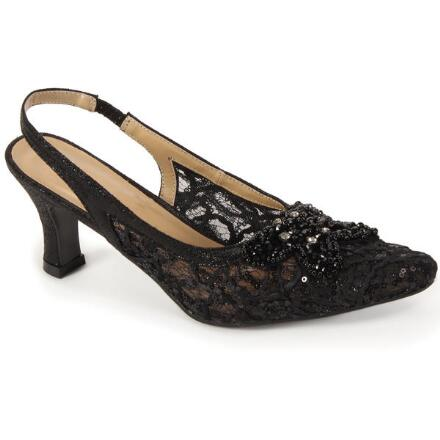 Chic D' Shimmer Slingback by EY Boutique