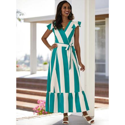 Awesome Awning-Stripe Linen Dress by EY Boutique