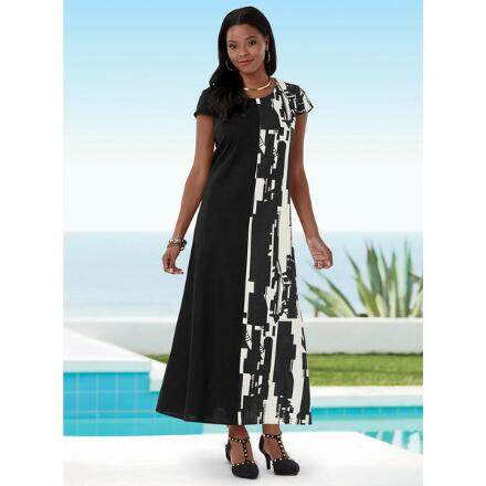 Absolutely Abstract Linen Maxi Dress by EY Boutique