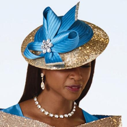 Gorgeous Curves Church Hat by EY Boutique