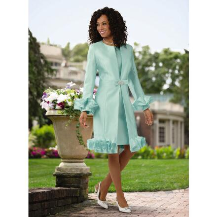 Never Enough Ruffles Jacket Dress by EY Boutique
