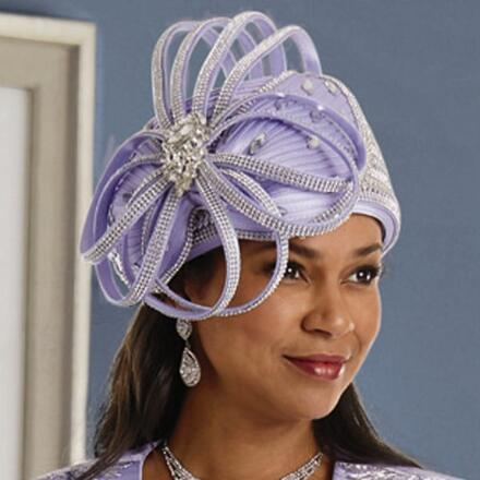 Lavish Overlay Church Hat by Lisa Rene Black Label
