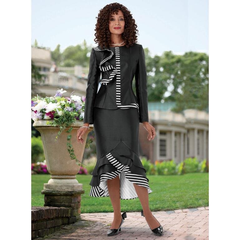 Cascade of Stripes Suit by EY Boutique