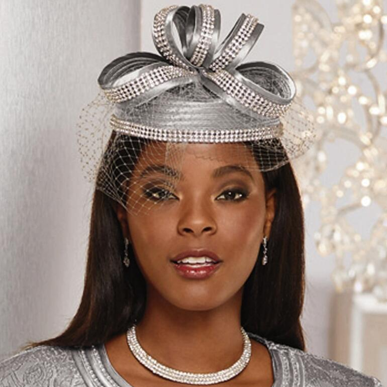 Accent on Shine Church Hat by LUXE