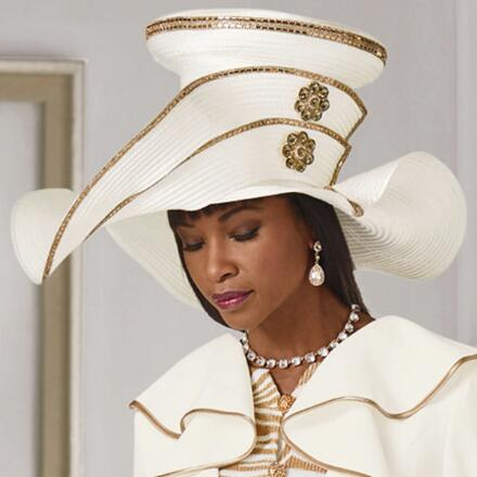 Wild About Glamour Church Hat by Lisa Rene Black Label
