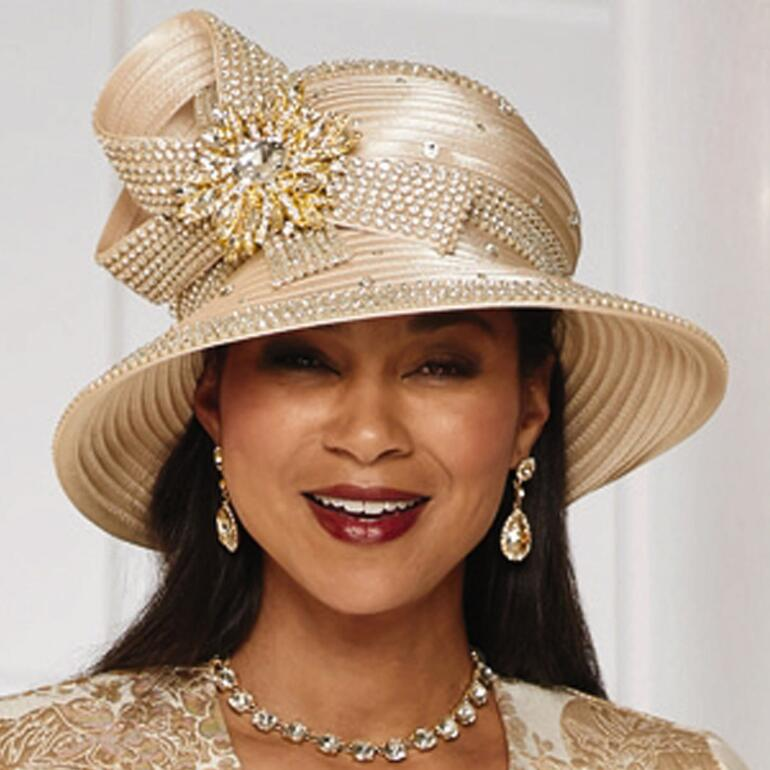 Marvelous Metallic Church Hat by LUXE