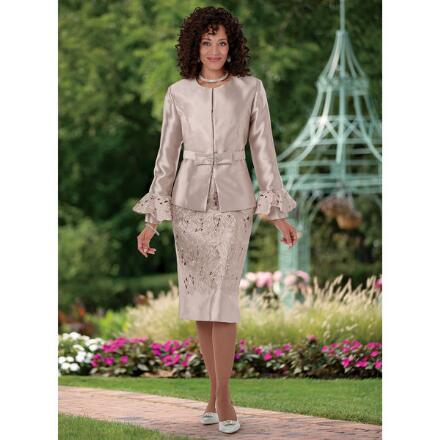 Embroidered Openwork Suit by EY Boutique