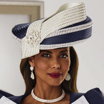 Swerves of Curves Church Hat by Lisa Rene Black Label