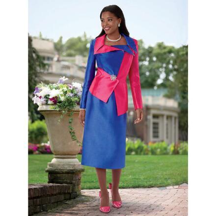 On-Trend Tri-Color Suit by EY Boutique