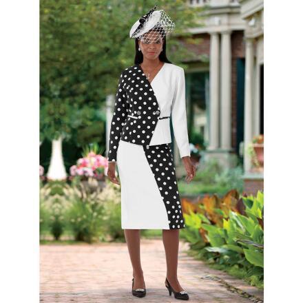 Designer Dots Suit by EY Boutique