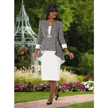 High-Low Houndstooth Suit by EY Boutique