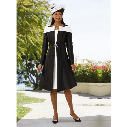 Double the Elegance Jacket Dress by Dorinda Clark-Cole