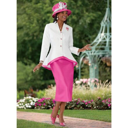 Peplum to Perfection Suit by Dorinda Clark-Cole