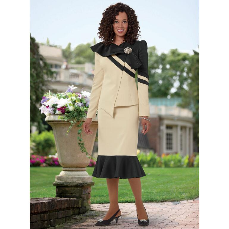 Side-Swept Runway Suit by EY Boutique