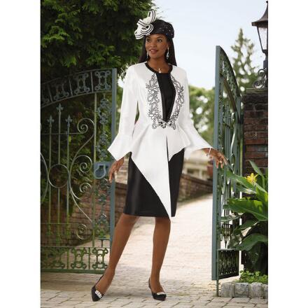 Points of Perfection Jacket Dress by EY Boutique