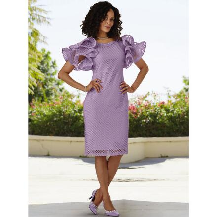 Chicly Ruffled Shoulders Dress by Studio EY