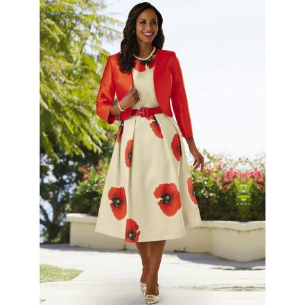Bold Poppies Jacket Dress by EY Boutique