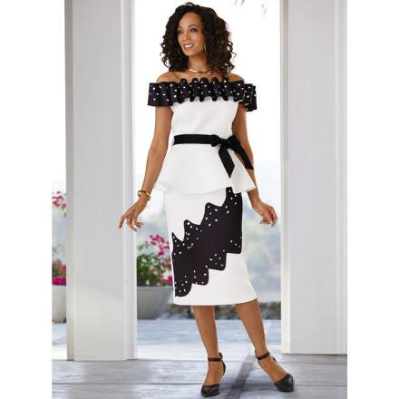 Dots 'n' Ruffles Skirt Set by Dorinda Clark-Cole