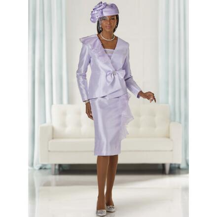 Side of Ruffles Suit by LUXE