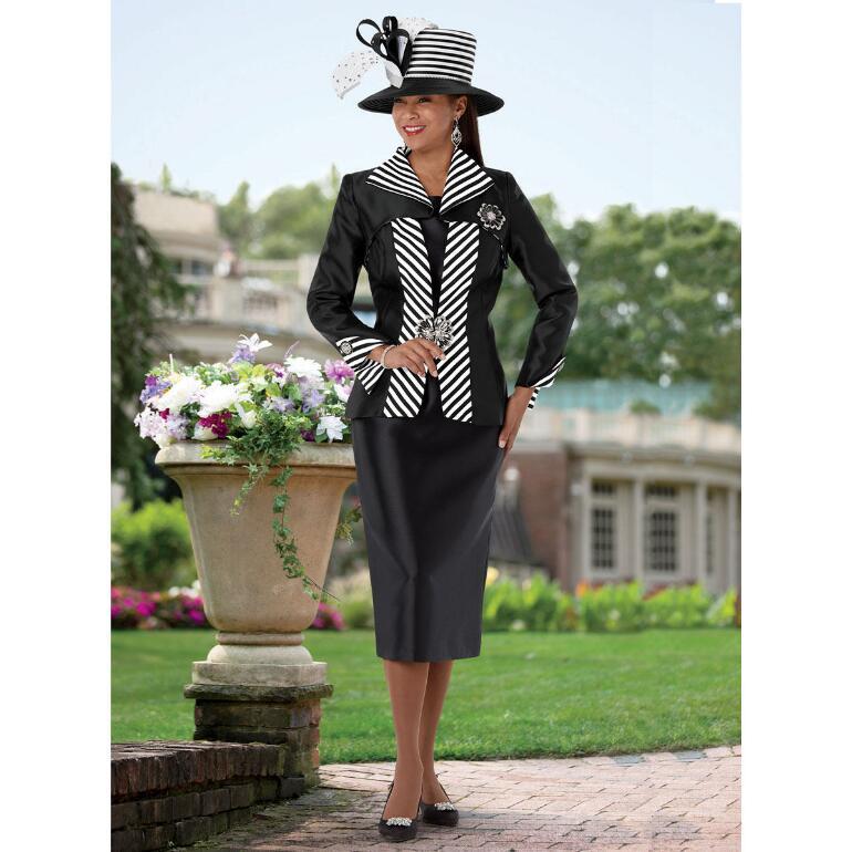 Look Sharp Stripe-Trim Suit by EY Boutique