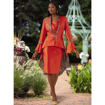 Fierce 'n' Floral Appliqué' Jacket Dress by EY Boutique
