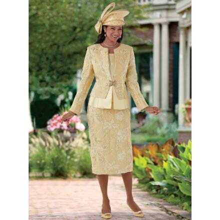 Precious Shine Brocade Suit by EY Boutique