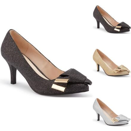 Take a Bow Metallic Pump by LUXE
