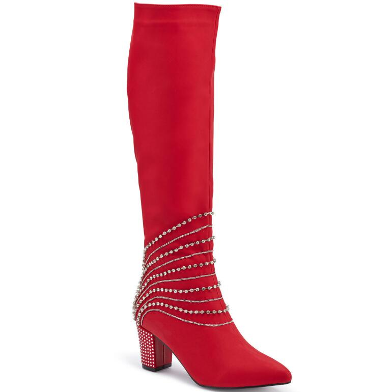 Cascade of Jewels Boot by EY Boutique