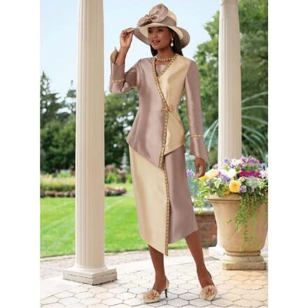 Too Beautiful Two-Tone Suit by Lisa Rene