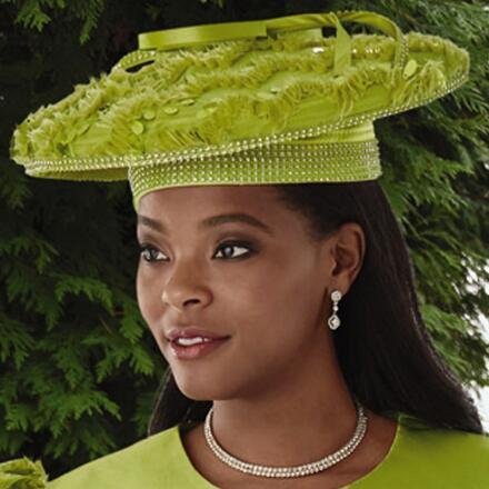 I Love Eyelash-Trim Church Hat by EY Boutique