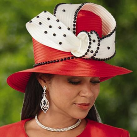 Glimpse of Dots Church Hat by EY Signature