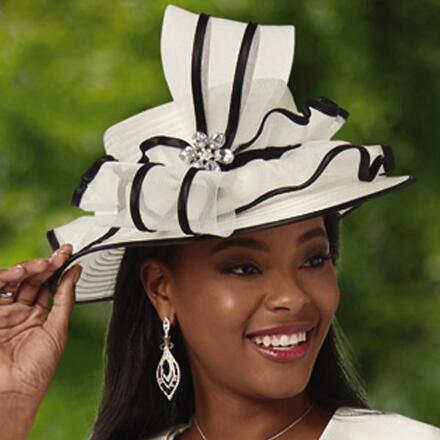 Dainty-Trim Church Hat by EY Boutique