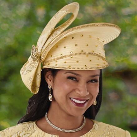 Precious Shine Church Hat by EY Boutique
