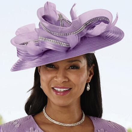 Grand Fans of Lace Church Hat by EY Signature