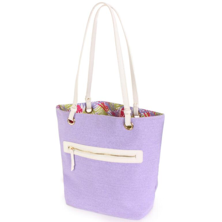 Reversible Linen Tote by EY Boutique