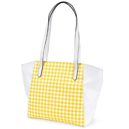 Gingham Tote by EY Boutique
