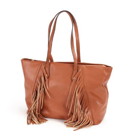 Fringe Trim Tote By Ey Boutique
