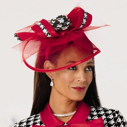 Look Sharp Houndstooth Fascinator by EY Signature