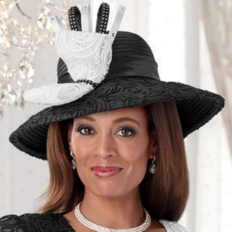 Soutache 'n' Shine Church Hat by Dorinda Clark-Cole