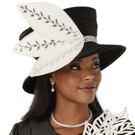Cascading Leaves Church Hat by EY Boutique