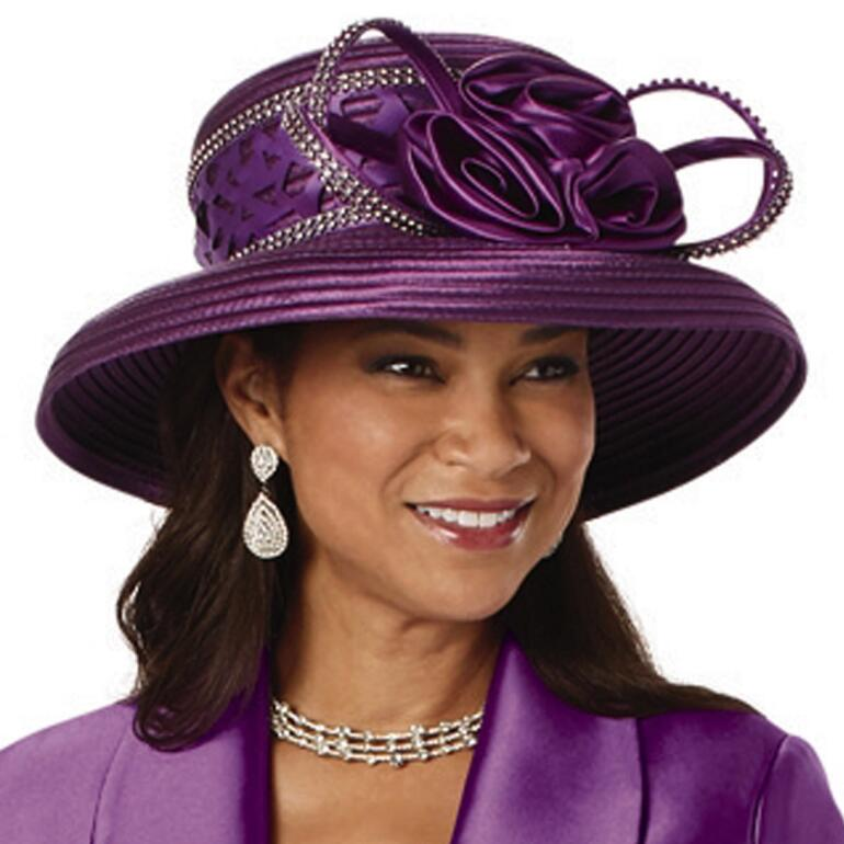 Curves of Cutwork Church Hat by EY Signature