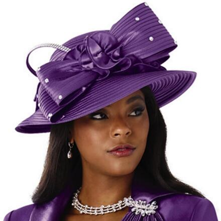 Magically Fluted Church Hat by Lisa Rene