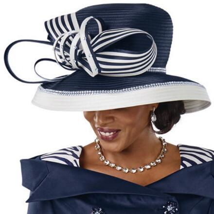 Zebra-Print Church Hat by Lisa Rene